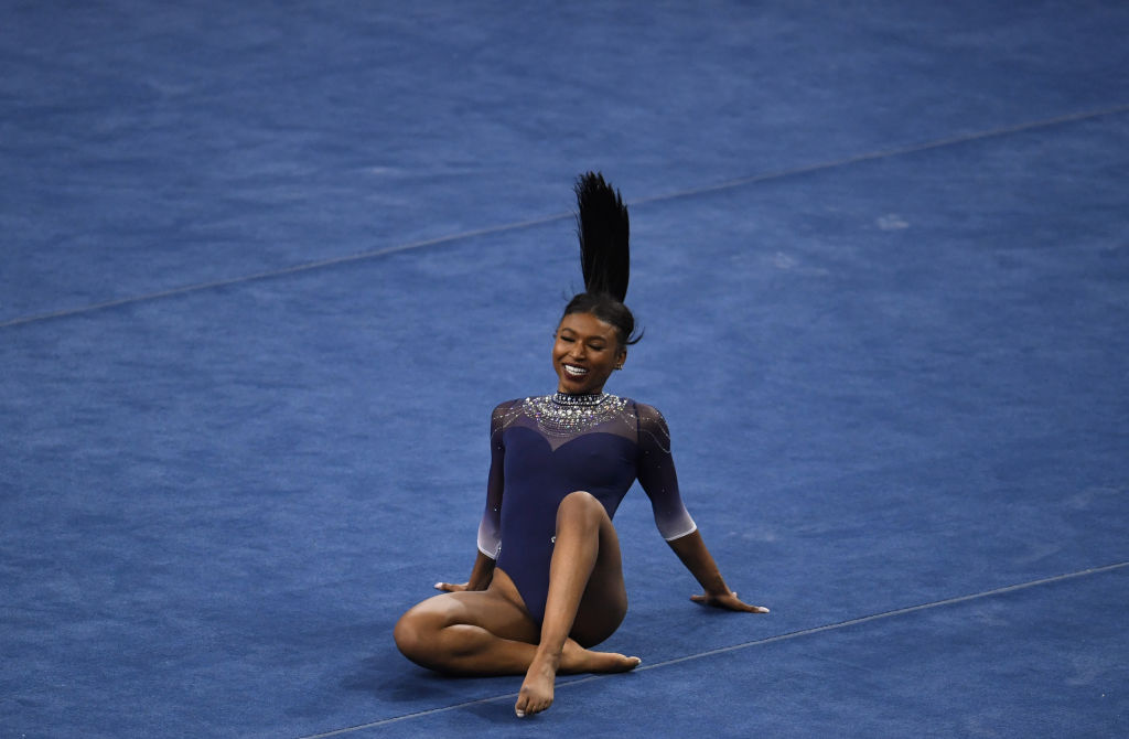 Black Excellence: UCLA Gymnast Nia Dennis Stuns With Viral Hip-Hop Floor Routine